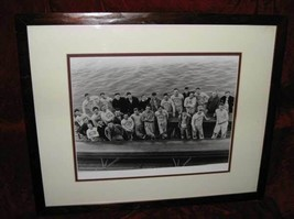 4 Vintage B&W Rutgers RU Crew Team Framed Matted Prints - $99.99