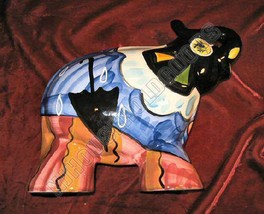 Hand Painted Ceramic Art Elephant Turov Signed Russian - $99.99