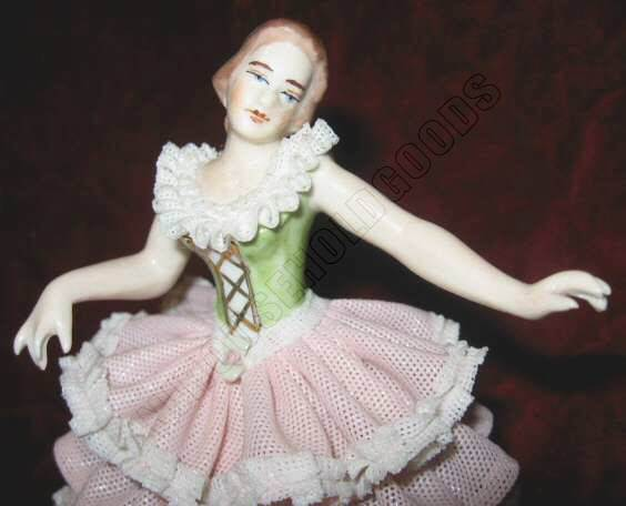 Dresden Porcelain Lace Dancing Lady Figurine Germany