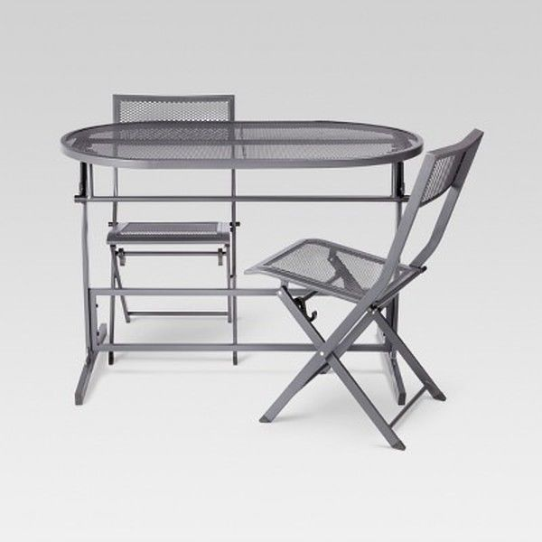 3 Piece Folding Bistro Balcony Patio Dining Set