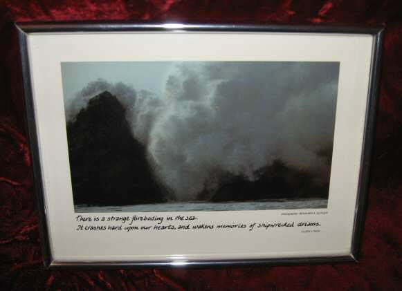 Vintage Framed Photo Ben Guyger Eileen Lynch Breakers