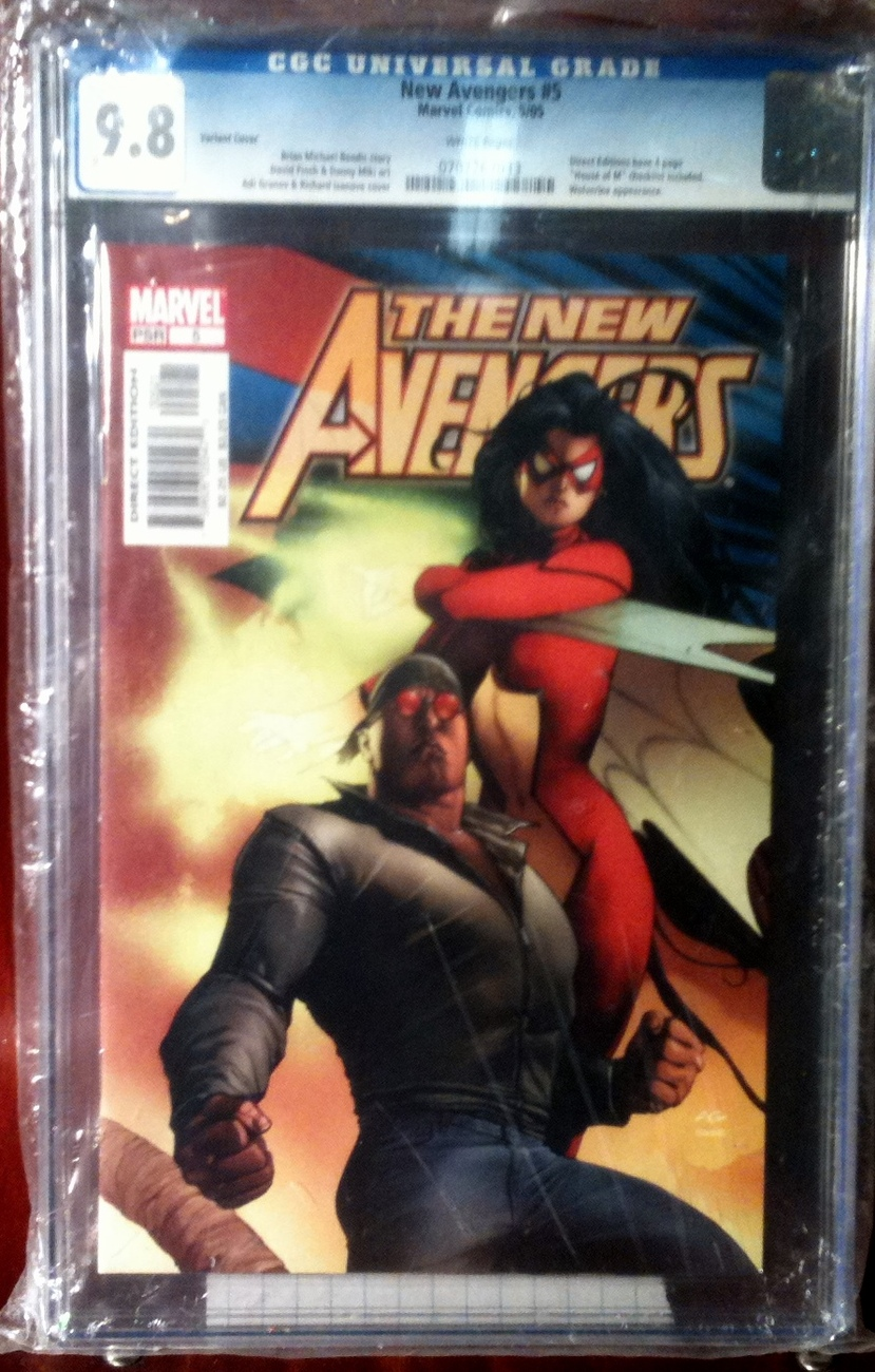 New Avengers # 5 Variant Cover CGC Graded 9.8 NM++