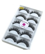 3D Real Mink False Eyelashes LASGOOS 100% Siberian Mink Fur Luxurious Wi... - $29.21