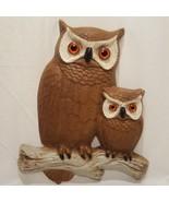 """Vintage Owl Burwood Wall Hanging Brown  14"""" 2070-2  1977  Owlet - $17.89"""