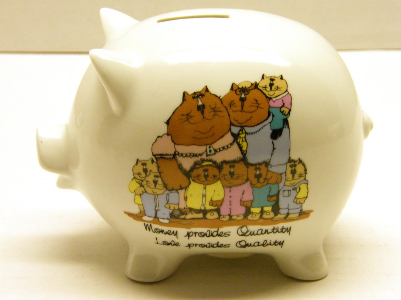 Family - Feline Family Piggy Bank
