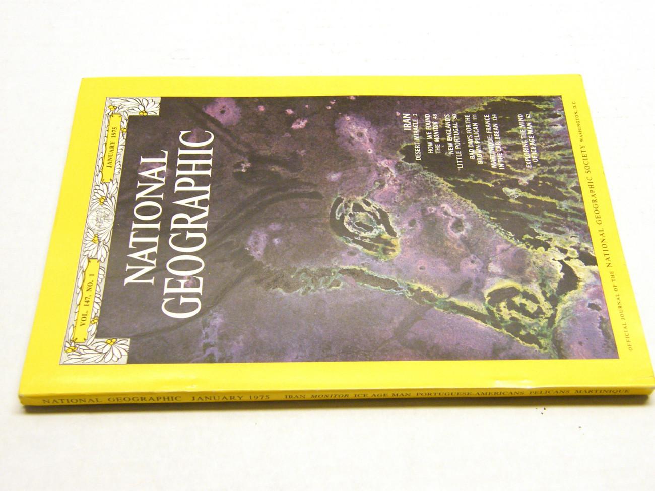 Set of 3 Vintage 1975 National Geographic (Jan/Feb/Mar)