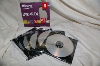 Memorex 5-Pack 8x DVD+R DL Double-Layer w/ Jewel case
