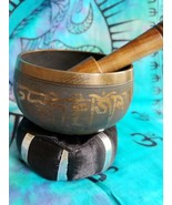 "Tibetan 3""  Singing Bowl w/ Striker with Black Cushion Made of 7 Metals - $21.55"