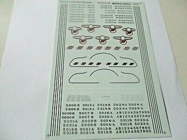 Microscale Decals Stock # 87-51 Chicago & North Western E-Unit Diesels HO Scale image 1