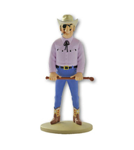 Rasrapopoulos with his whip resin figurine Official Tintin product New