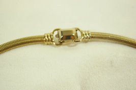 Coro Pegasus Gold Plate Omega Chain Choker Necklace Snake Stove Pipe Dainty Vntg image 5
