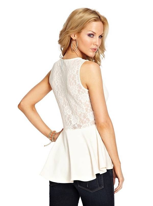 Guess By Marciano MADISON PEPLUM TOP