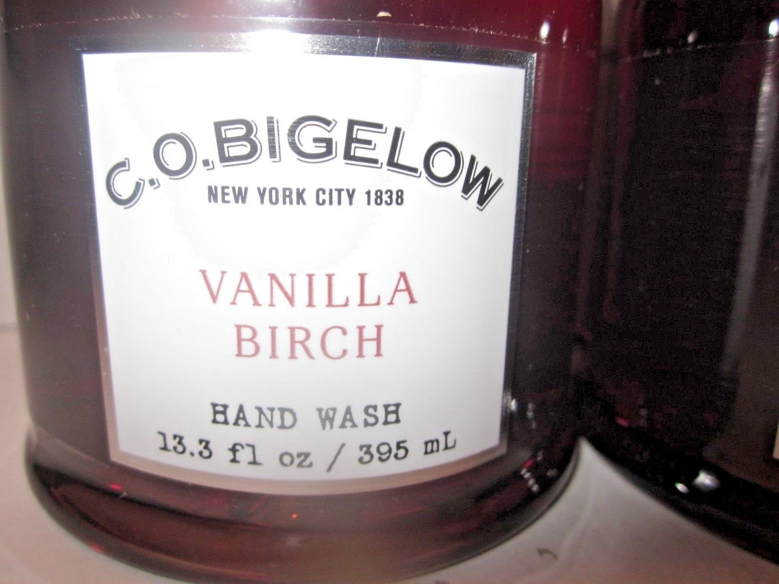 2 bottles Bath & Body Works CO Bigelow Hand Wash Soap 13.3 oz  Vanilla Birch