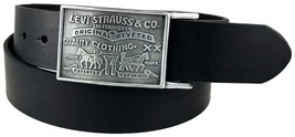 NEW NWT LEVI'S MEN'S STYLISH PREMIUM GENUINE LEATHER BELT BLACK 11LV0253