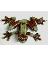 Golden Pond Collection Brown and Green Ceramic Frog Figurine (C) - £21.02 GBP