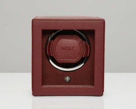 WOLF Single Cub Watch Winder with Cover Bordeaux 461126 Battery or AC Power - $189.00