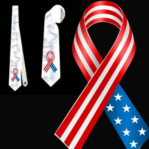 necktie USA vexillology patriotic national football fan tietie