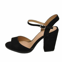 Qupid LOST 55AX Black Women's Open Toe Braided Block Heels - $38.95