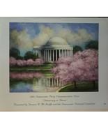 "2002 Democratic Party Commemorative Print""Democracy in Bloom""Dan Kessler... - $7.91"