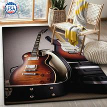 3D Guitar Electric - Area Rug Decor Floor Living Room, Music Lover, Carp... - $35.99+