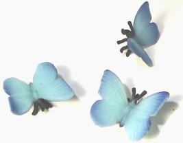 Doll House Shoppe Toy Blue Butterfly Set/3 9695 Game Pcs Micro-mini Miniature - $3.89