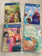 4 Girls Level 2 Reader Paperback Books Tangled Frozen Princess Bunny Ani... - $7.38