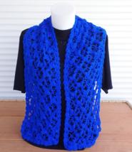 Crochet neck warmer, lace blue scarf women, handmade soft crochet scarf - $38.00