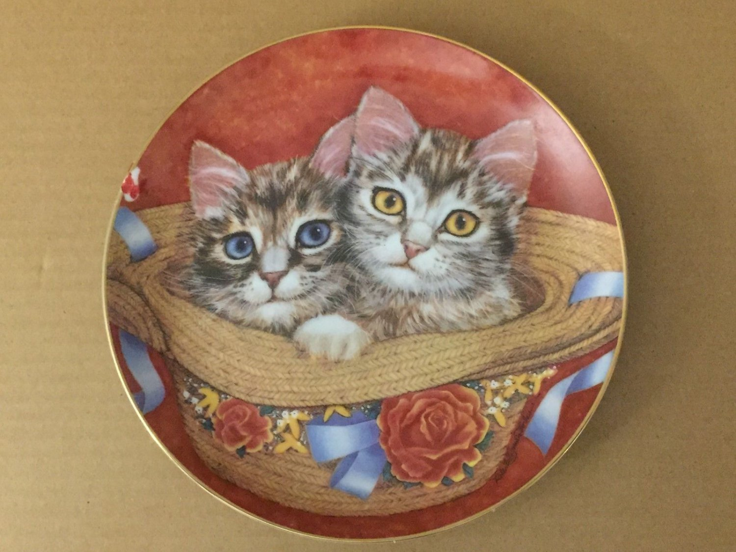 Primary image for Toby And Tammy PURRFECT PAIRS Cat Kitten Robert Guzman-Forbes Danbury Mint Plate