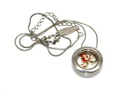 Bracciale Disney Round Locket Necklace Floating Belle Ariel Floating Charms - $24.74