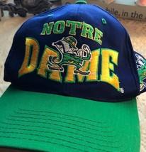 NOTRE DAME Fighting Irish Snapback BIG Logo SPELLOUT Letter HAT Cap - $20.23