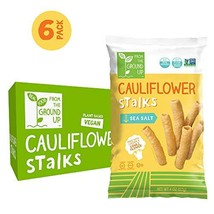 Real Food From The Ground Cauliflower Stalks - 6 Count, 4oz Bags Sea Salt