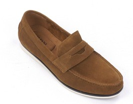 New Alfani Tan Suede Slip On Driver Mocc ASIN S Sawyer Loafers Shoes 8 - $24.74
