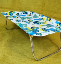 1970's Vintage Folding T.V Tray with Legs - Blu... - $24.74