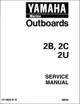 1995-2001 Yamaha 2 Hp 2-Stroke ( 2B 2C 2T 2U ) Outboard Motors Service Manual CD - $12.99