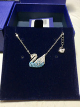Swarovski ICONIC SWAN Gradient Blue Swan fashion Necklace pendant - $40.06