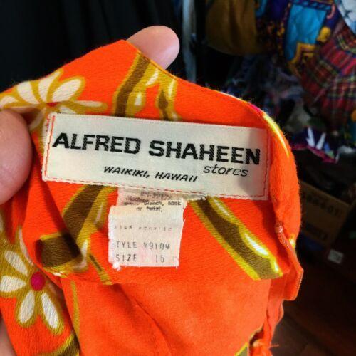 Alfred Shaheen Flower Power Summer Sun Dress Poly Pop Aloha M