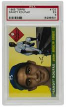 Sandy Koufax 1955 Topps #123 Brooklyn Dodgers Baseball Card PSA EX 5 - $1,939.99