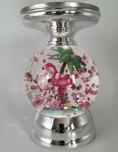 Bath & Body Works Flamingo Summer Water Globe Pedestal Candle Holder Palm Tree - $108.87