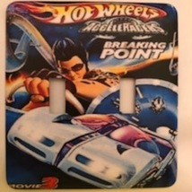 Hot Wheels Metal Switch Plate Double Toggle Kids - $10.50