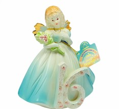 Josef Originals figurine birthday girls vtg porcelain angel 16 sixteen f... - $43.32