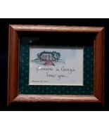 Somebody in Georgia Loves You Framed Calligraphy 5 x 6 Inches - $1.00