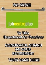 Dole to Pension  Personalised Greeting Retirement Card A5 coded1 - $3.93