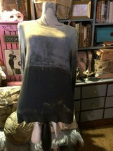 PIAZZA SEMPIONE Italy Slick Tye Dyed Blouse Size 42 - $21.78