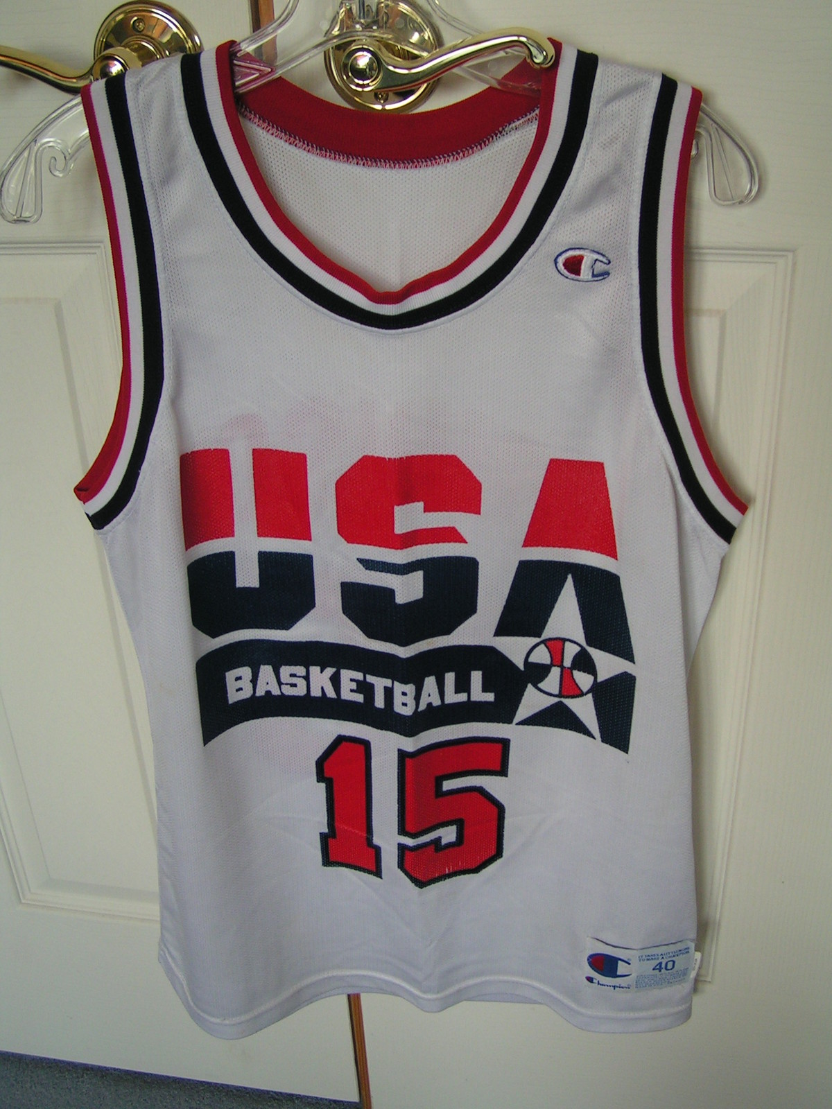 Primary image for Vintage Dream Team Jersey---Magic Johnson #15---Authenic From the Early 1990's