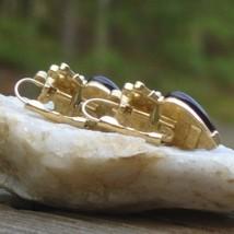 Vintage trifari tm red heart cabochon crown w rhinestone dangle pierced earrings4 thumb200