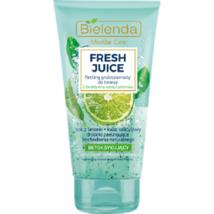 Bielenda Fresh Juice Detoxyfying COARSE FACE PEELING SCRUB GEL Lime 150g - £9.22 GBP