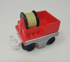 FISHER PRICE GEO TRAX RED FIRE TRUCK HOSE CART VEHICLE REPLACEMENT PART ... - $9.50