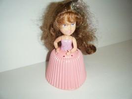"TONKA Cupcake Doll 6"" Candy Fluff Shiny Brown Hair Pink Cupcake - $8.91"