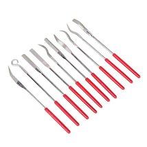 Chris.W 10Pcs Assorted Diamond Mini Riffler Needle File Set Metal Red Je... - $12.19