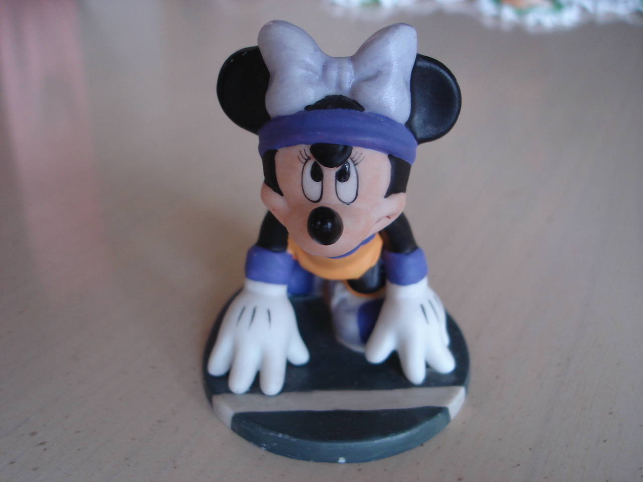 Disney's Minnie Mouse Track Star Porcelain Figurine